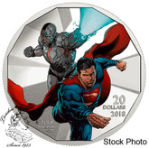 Canada: 2018 $20 The Justice League: Cyborg and Superman Pure Silver Coloured Coin