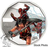 Canada: 2018 $20 The Justice League: Wonder Woman and The Flash Pure Silver Coloured Coin