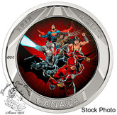 Canada: 2018 25 Cents The Justice League: 3D Coin and Two Trading Cards