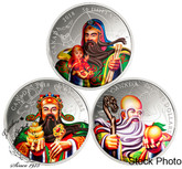 Canada: 5 oz. Pure Silver 3-Coin Set - The San Xing Gods: Fu, Lu, Shou