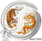 Canada: 2018 $10 Yin and Yang: Tiger and Dragon Silver Coin