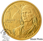 Canada: 2018 $100 250th Anniversary of the Birth of Tecumseh 14 Karat Gold Coin