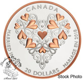 Canada: 2018 $20 Best Wishes On Your Wedding Day! Fine Silver Coin