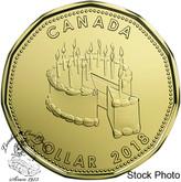Canada: 2018 $1 Birthday Cake Loonie
