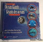 Canada: 1998 50 Cents Canada's Ocean Giants - Killer Whale Silver Coin
