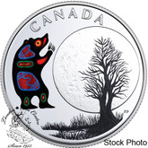 Canada: 2018 $3 The Thirteen Teachings From Grandmother Moon: Bear Moon Fine Silver Coin