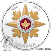 Canada: 2018 $20 Canadian Honours: 25th Anniversary of the Star of Military Valour - 1 oz. Pure Silver Coloured Coin