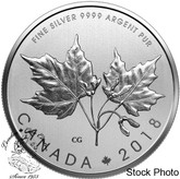 Canada: 2018 $10 Maple Leaves Specimen - 1/2 oz. Pure Silver Coin