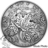 Canada: 2018 Maple Leaves in Motion 5 oz. Convex Pure Silver Coin