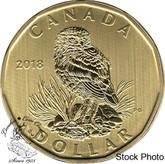 Canada: 2018 $1 Loonie Burrowing Owl Specimen Coin