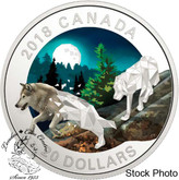 Canada: 2018 $20 Geometric Fauna Series: Grey Wolves Fine Silver Coin