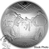 Canada: 2018 $25 180th Anniversary of Canadian Baseball Fine Silver Coin