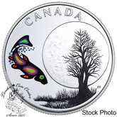 Canada: 2018 $3 The Thirteen Teachings From Grandmother Moon: Sucker Moon Fine Silver Coin