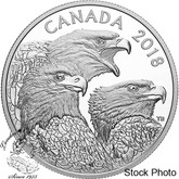 Canada: 2018 $15 Magnificent Bald Eagles 1 oz Silver Coin