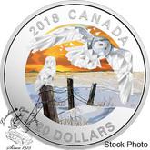 Canada: 2018 $20 Geometric Fauna: Snowy Owls 1 oz Silver Coin