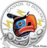 Canada: 2018 $25 Thunderbird Ultra-High Relief 1 oz Silver Coloured Coin