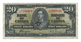 Canada: 1937 $20 Bank Of Canada J/E 7183464