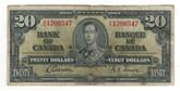 Canada: 1937 $20 Bank Of Canada H/E 1206547