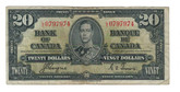 Canada: 1937 $20 Bank Of Canada L/E 0797974