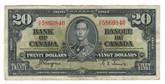 Canada: 1937 $20 Bank Of Canada H/E 5860846