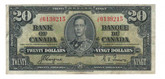 Canada: 1937 $20 Bank Of Canada J/E 6139215