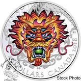 Canada: 2018 $25 Dragon Boat - Pure Silver Ultra-High Relief Coloured Coin