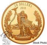 Canada: 2018 $20 A Modern Allegory: Borealia - 1 oz. Pure Silver Gold-Plated Coin