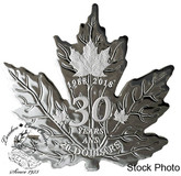 Canada: 2018 $20 30th Anniversary of the Silver Maple Leaf - 1 oz. Pure Silver Coin