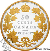 Canada: 2017 50 Cent 100th Anniversary Pure Silver 2 oz Coin