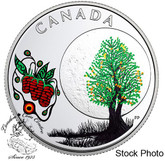 Canada: 2018 Thirteen Teachings From Grandmother Moon: Strawberry Moon Pure Silver Coloured Coin