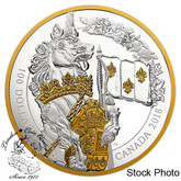 Canada: 2018 $100 Keepers of Parliament: The Unicorn Pure Silver Gold-Plated Coin