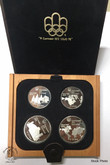 Canada: 1976 Montreal Olympic 4 Silver Coin Set