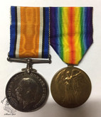 First World War Medal Pair To The Army Veterinary Corps Henry R. Holden