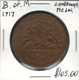 Bank of Montreal: 1917 Centenary Medal