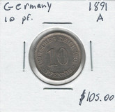 Germany: 1891A 10 Pfennig