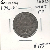Germany: 1880D Silver 1 Mark