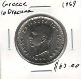 Greece: 1959 10 Drachma