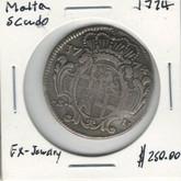 Malta: 1774 Silver 5 Cudo Scarce