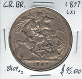 Great Britain: 1897 Crown LXI