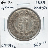 Great Britain: 1889 1/2 Crown