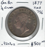 Great Britain: 1877 1/2 Crown