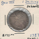 United Kingdom: 1787 1 Shilling George III No Hearts