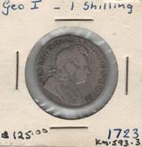 United Kingdom: 1723 1 Shilling George I