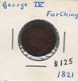 Great Britain: 1821 Farthing George IV