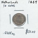 Netherlands: 1889 10 Cents