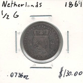Netherlands: 1864 1/2 Guilden