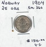 Norway: 1904 25 Ore