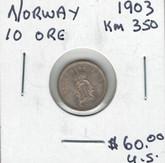 Norway: 1903 10 Ore