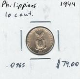Philippines: 1944 10 Centavos
