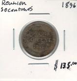 Reunion: 1896 50 Centimes